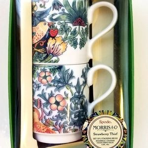 Spode Morris Strawberry Thief Mug Set NEW IN BOX